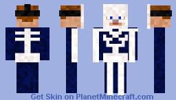 Skeleton Costume Minecraft Skin