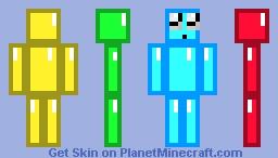 MULTICOLORED DIAMOND Minecraft Skin