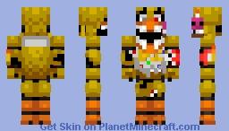 Twisted Chica Minecraft Skin
