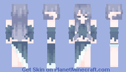 🎃skintober day 4🎃 𝓁𝓊𝓃𝒶𝒸𝒽𝓊𝓊 ~ weeping water nymph Minecraft