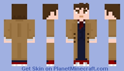 The Tenth Doctor - Blue suit (with coat) Minecraft Skin