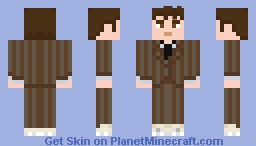 The Tenth Doctor - Brown Suit (no coat) Minecraft Skin