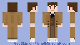 The Tenth Doctor - Brown suit (with coat) Minecraft Skin