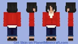 vintage red cardigan Minecraft Skin