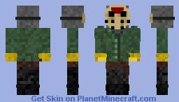 Jason Voorhees Detailed Mask Minecraft Skin