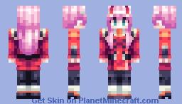Zero Two - Darling in the FranXX (UPDATED, old ver. in desc) Minecraft Skin