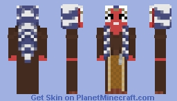 Shaak Ti - Attack of the Clones Minecraft Skin