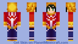 Midoriya: All Might Version Minecraft Skin