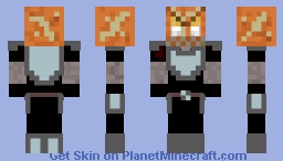Pumpkin knight Minecraft Skin