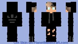 ( My Personal Fav ) Black Adidas Boy w/ Light Blue Eyes Minecraft Skin