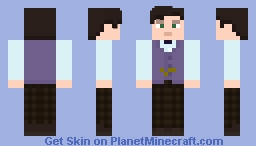 "The Eleventh Doctor - in ""Journey to The Center of The TARDIS"" Minecraft Skin"