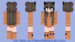 Halloween - Orange Suit - The Pumpkin girl Minecraft Skin