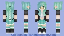 Skintober 2018:: DAY SEVENTEEN - neon & black Minecraft Skin