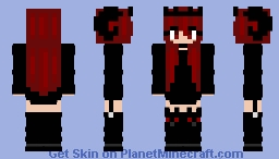 Halloween - My Skin - Evil girl in Black Minecraft Skin