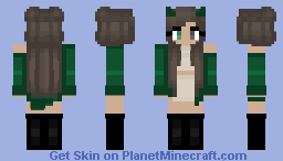 Halloween - Green Jacket - Brown hair Minecraft Skin