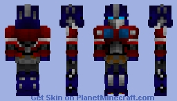 Optimus prime from The Bumblebee Movie Minecraft Skin