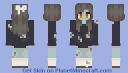 who says zombies can't be cute too? Minecraft Skin