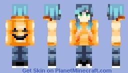 Pumpkin Girl Halloween Skin Minecraft