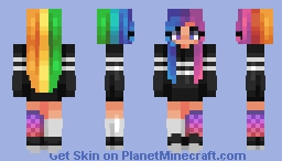 iridescent Minecraft Skin
