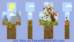 Autumn Landscape Abstract Minecraft