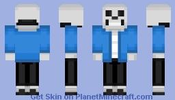 Sans - Undertale Minecraft Skin