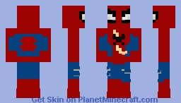 Ps4 Classic Damage Spiderman Minecraft Skin