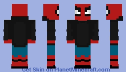 Spiderman (homecoming wearing Star wars hoodie) Minecraft Skin