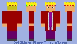 King (Red Robe) Minecraft Skin