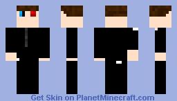 Red Eye Infected Man Minecraft Skin