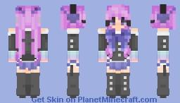 💙 Blue & Purple United 💜 Cute Maid ANIME 2018 Skin Minecraft Skin