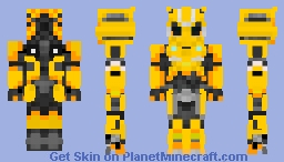 🐝Bumblebee Battle mask form Bumblebee movie Minecraft Skin