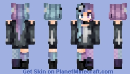 Multicolored Hair is Pretty Neato Minecraft Skin