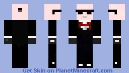 Hitman Agent 47 With Bow Tie And Sunglasses (My First Skin) Minecraft