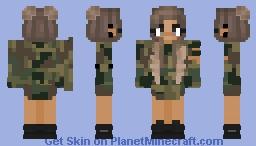 Military Girl Minecraft Skin
