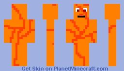 Evil Steve Pumpkin Minecraft Skin