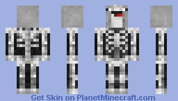 Skeleton Narwhal Minecraft Skin