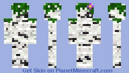 SemiCamouflage Birch Logs with a face! Minecraft Skin