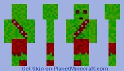Zombie Zorotl Minecraft Skin