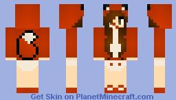 Baby Fox Girl Minecraft Skin