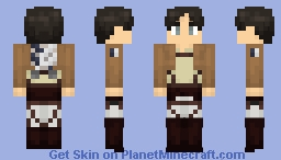 Eren (+ Alternates) Minecraft Skin