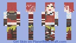 Lilith aka..The Firehawk || Borderlands 2 Minecraft Skin