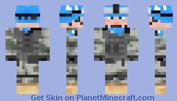 ♦ UN Peacekeeper ♦ Minecraft Skin