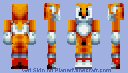 Tails The Fox (Sonic Mania) Minecraft Skin
