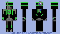 robot green Minecraft Skin