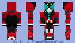 Kamen Rider Dark Kiva Minecraft Skin