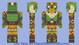 Tuffnut Thorston (Dragon Scale Armour) - How To Train Your Dragon: the Hidden World Minecraft Skin