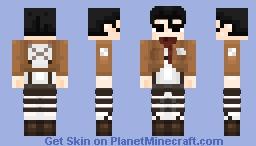 Mikasa Ackerman - Attack on titan Minecraft Skin