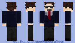 Man in a Soot Minecraft Skin