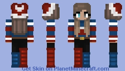 Christmas - Red & Blue - Hat & boots Minecraft Skin