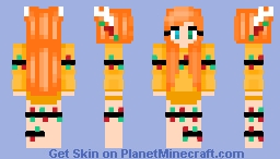 Christmas - Yellow Peddle - Orange hair - Christmas lights Minecraft Skin